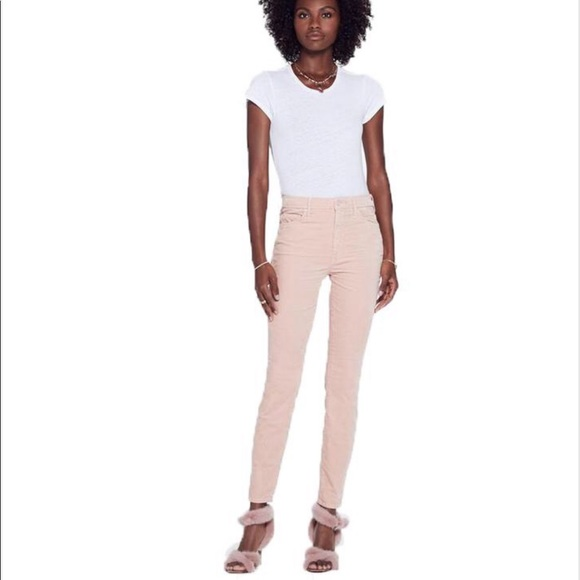 MOTHER Denim - NEW • Mother • High Waisted Looker Pink Velour
